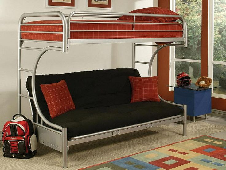 Cabot Extra Long Twin over Queen Futon Bunk Bed