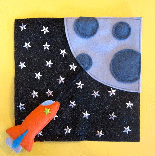 Rocket Ship zipper rocket Quiet Book Pattern plus a ton of way cute free quiet book patterns!