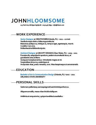 Chronological Resume by Hloom resume examples Pinterest