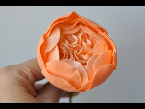 How To Make Sugar Paste Peony Rose Cake Decorations