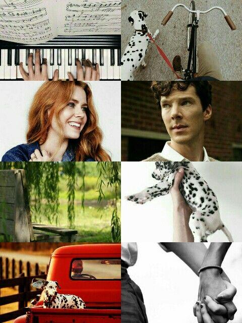 Benedict Cumberbatch as Roger Radcliffe, and Amy Adams as Anita Radcliffe ~ 101 Dalmations