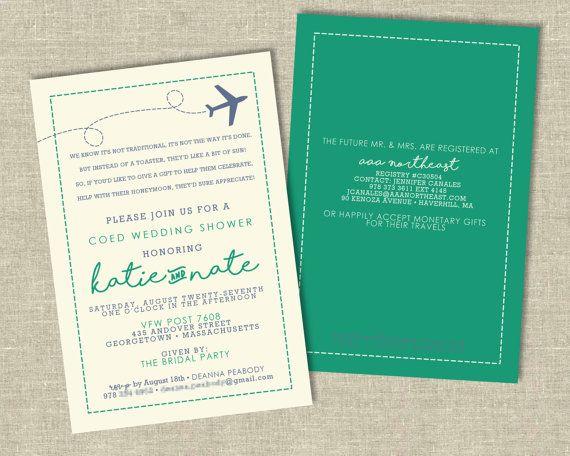 Honeymoon Shower/Travel Party Invitation Digital Download | IdaClaireDesigns.com