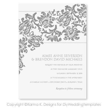 45 best wedding invitations images on Pinterest Marriage - microsoft word template invitation
