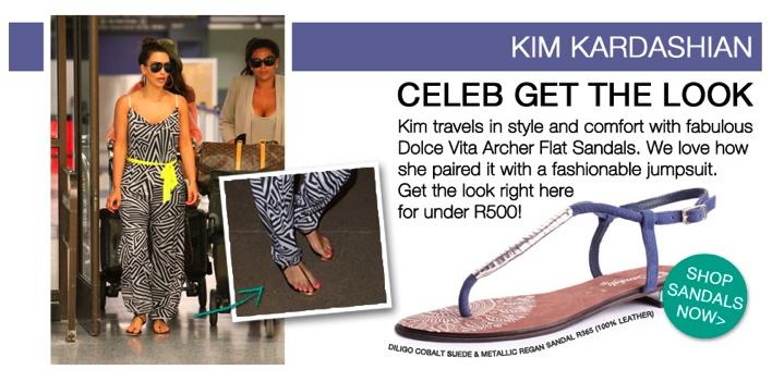 Kim Kardashian | Summer Sandals