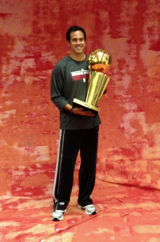 2012 NBA Champion - @Annalise Poe Head Coach Erik Spoelstra!