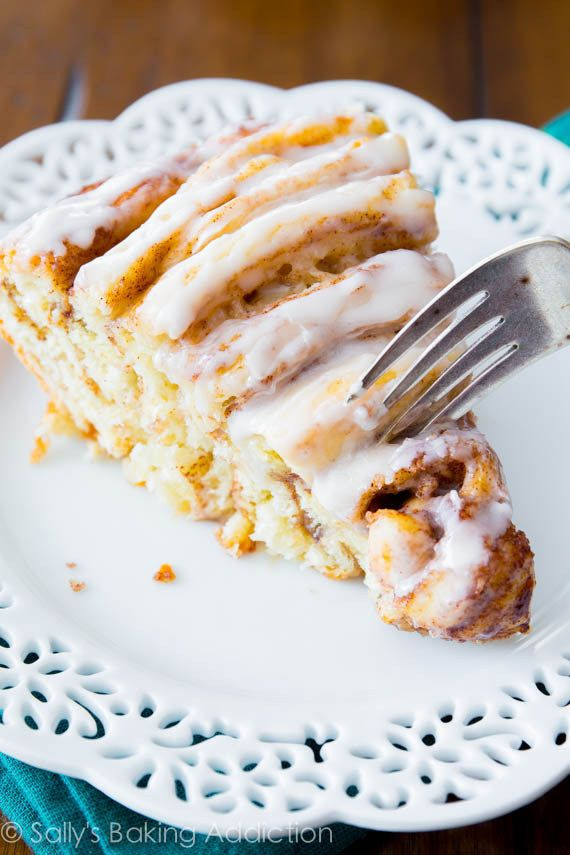 Make a giant cinnamon roll cake for everyone to share in the morning. | 23 Badass Ideas For A Grown-Up Slumber Party