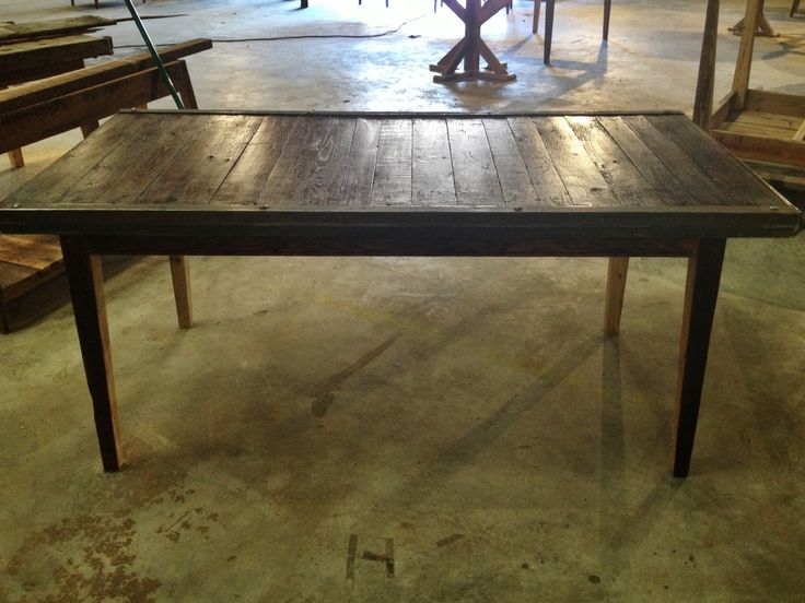 Industrial Reclaimed Pallet Turned Dining Table By Landrum Tables Charleston SC