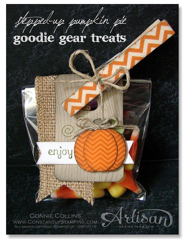 Treat bag/ I love the clothespin.