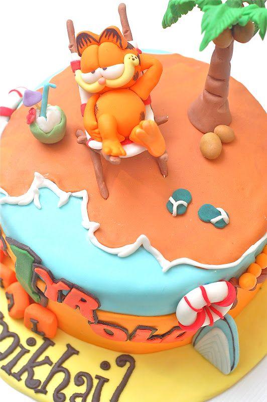 Melting Bites - Something Sweet By MeltingBites: Garfield Birthday Cake