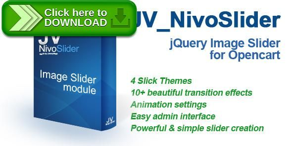 [ThemeForest]Free nulled download JV_NivoSlider - jQuery Image Slider for Opencart from http://zippyfile.download/f.php?id=47350 Tags: ecommerce, auto pay, banner rotator, banner slideshow, jquery slider, nivoslider, opencart responsive slider, opencart slide, opencart slideshow, responsive nivo slider, slide effect, slider, slider effects, slideshow, slideshow effect