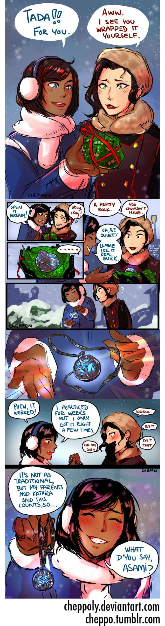 Longing For More Korra & Asami? Fan Comics Picture Life After The Show