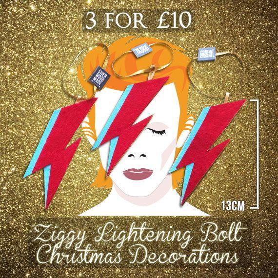 3 for 10 GBP Ziggy Flash Lightening Bolt Felt by SHERWOODMADEUK
