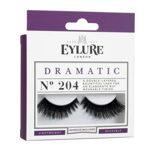 Eylure Naturalites Double False Eyelashes 204 ($9.91) ❤ liked on Polyvore featuring beauty products, makeup, eye makeup, false eyelashes, eylure and eylure false eyelashes