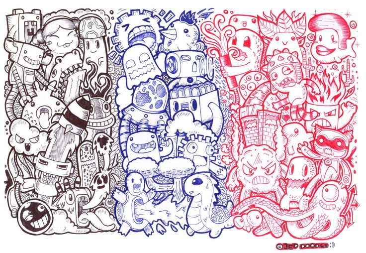my throwback Doodle using titus pens by jedidia098 on deviantART