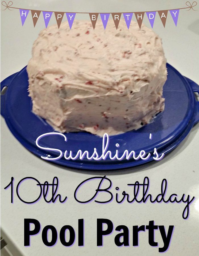 Sunshine's 10th Birthday Pool Party was a lot of fun for her and her guests - and super easy for me! Find out all the details about how I booked her pool party, made her birthday cake, and picked a few simple party games to play after the girls were done swimming.