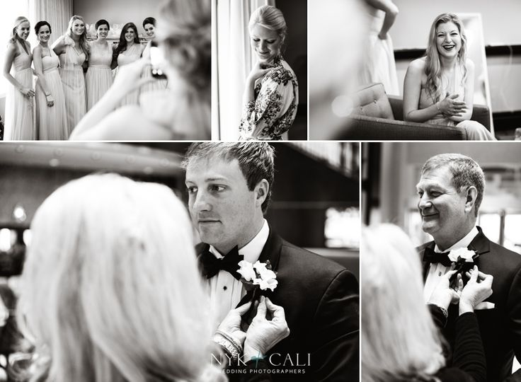 Nyk + Cali Wedding Photography | Nashville, TN | Getting Ready | Black + White | Classic | Bridesmaids | Father | Groom | Laughter | Candids |