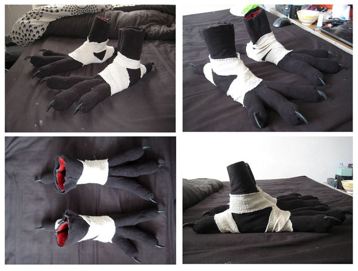 Crow Costume Feet - Complete by CuriousCreatures
