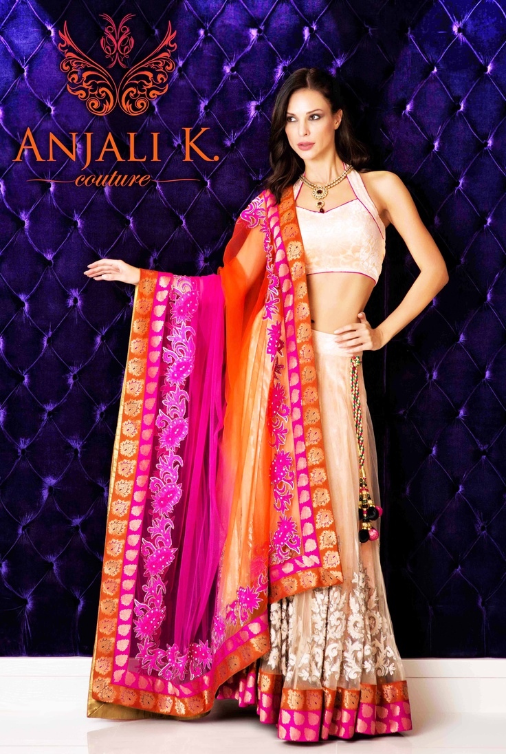 Peach and Pink Lengha