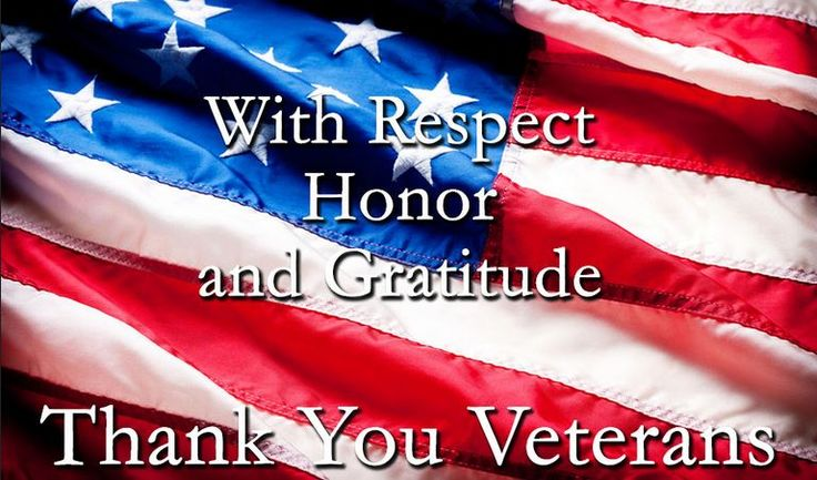 Salute and Respect! Thank you, Veterans!