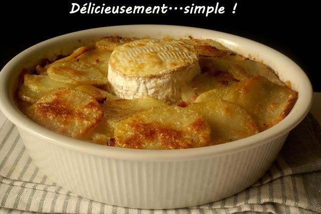 Délicieusement... simple !: Gratin gourmand au camembert