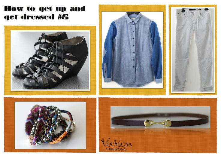 #MondayDressing : My take on the French chic  vintage belt, friendship bracelet, CK Rock Kick Jeans, Folk Linen shirt, dico black roman wedge sandals