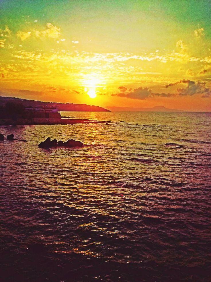 Sunset Rethimno! Amazing.