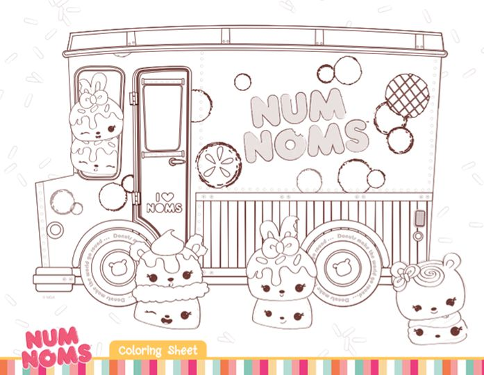num noms coloring sheets are a cute addition to a num noms themed birthday party