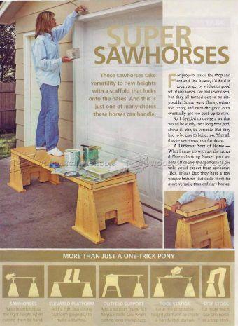 #989 Super Sawhorses Plans - Workshop Solutions Plans, Tips and Tricks