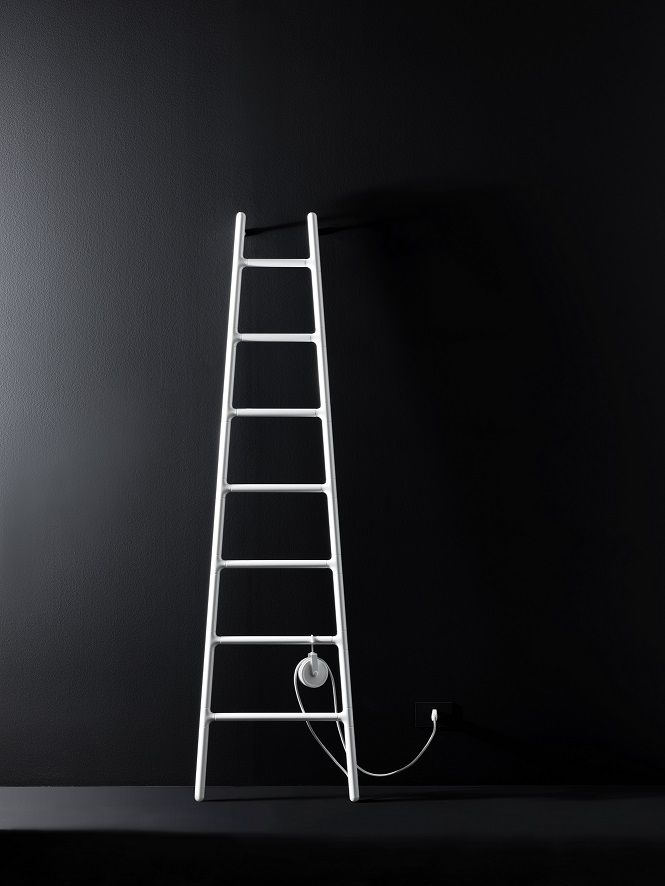 """#SCALETTA is a new entry in Elements collection by #Tubes – design Elisa Giovannoni.  """"The image of a ladder resting against a wall (…) encloses within itself the opposing concepts of dynamism and static""""."""