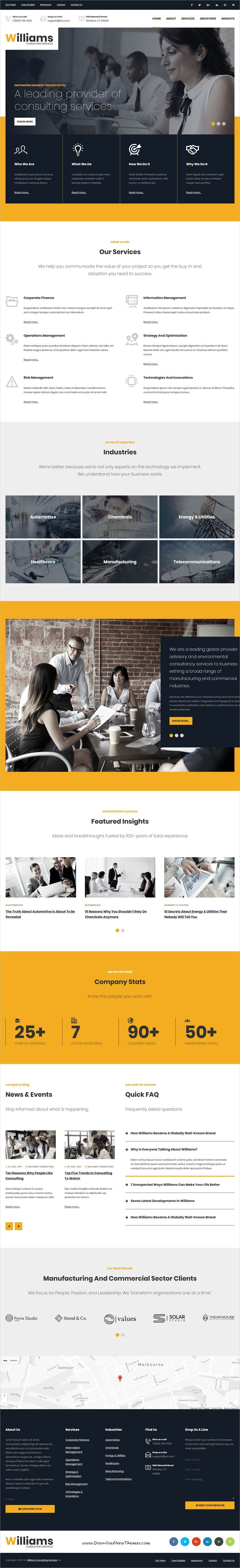 Williams Business HTML Temaplate
