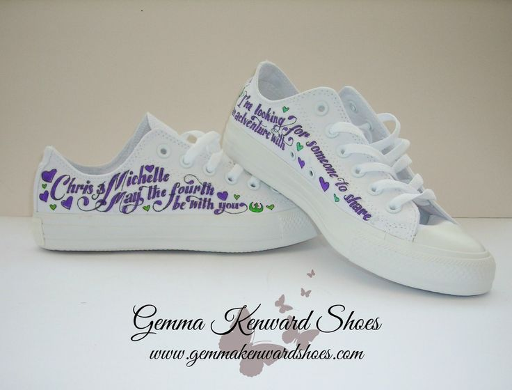 Hand Painted Star Wars theme wedding shoes #converse #bridal #wedding #weddingshoes #bridesshoes #weddingconverse #weddingvans #bridalvans #weddingflats #flats #shoes #vans #starwarsvans #starwarsconverse
