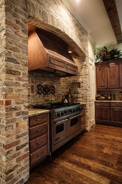 Kitchen stove brick Design Ideas, Pictures, Remodel and Decor