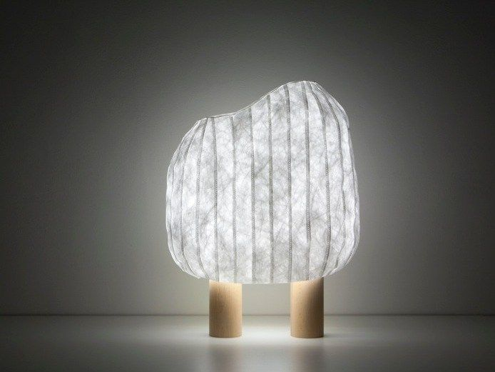Beautiful Forêt Illuminée Table Lamp Designed By Ionna Vautrin With A Unique Shape.  The Lamp Consists Of A Table Lamp, Shades Made Of Woven Paper, And Rests On  Two ... Nice Look