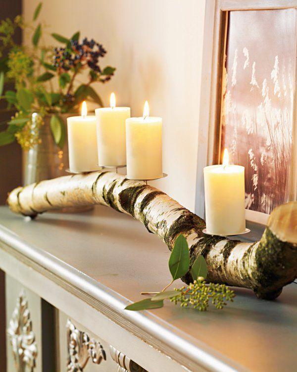 Kerzenhalter Holzstamm