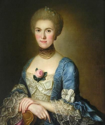 """""""Portrait of a Lady"""" by a student of Alexander Roslin, circa 1760 - Jewelry reference"""