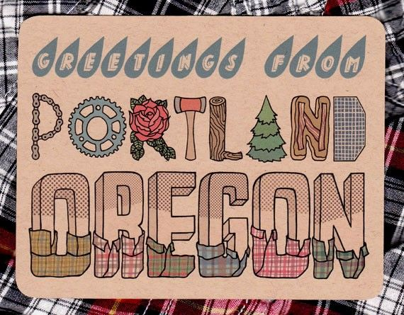 Postcards Design, Portland Bound, Favorite Places, Greeting, Portlandia, Plaid Shirts, Pacific Northwest, Letters, Portland Oregon
