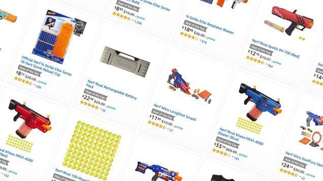 Esto No Es un Simulacro: Amazon Ejecución de un Masivas de Un Día Pistola Nerf Venta