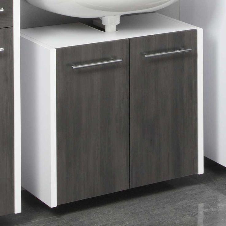 Waschbeckenschrank in Weiß Grau hängend Jetzt bestellen unter: https://moebel.ladendirekt.de/bad/badmoebel/waschbeckenunterschraenke/?uid=170b5874-c57e-5ca0-919d-45f541ce2680&utm_source=pinterest&utm_medium=pin&utm_campaign=boards #waschtischunterbau #waschschrank #bad #waschtischkonsole #hängeschrank #waschbeckenunterschrank #badezimmerschrank #badschrank #badmoebel #waschbeckenschrank #waschtischunterschrank #waschtisch #badezimmer #waschkommode #waschbeckenunterschraenke
