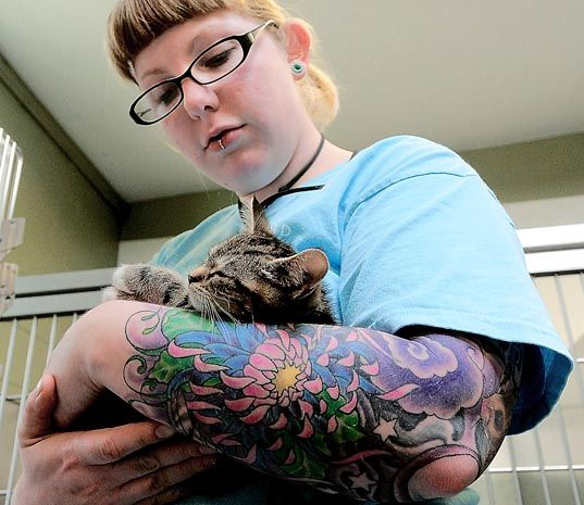 """Tattoos in the workplace is shockingly still something that is an issue today. It's surprising that there are still so many employers judging people's ability to do a certain job by their looks and not by their capability. Try mentioning that you're going to get a huge tattoo on your arm or somewhere highly visible and see how many people mention """"but remember how hard it is to get a job with tattoos""""."""