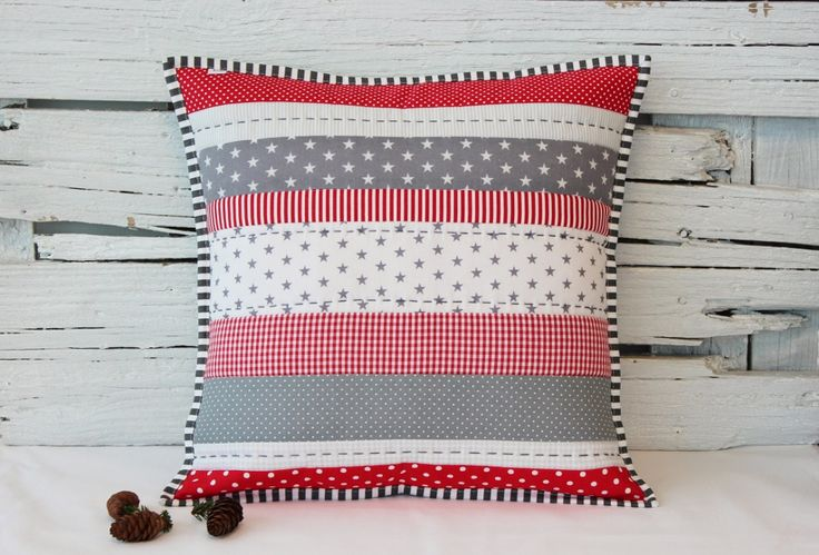 christmas patchwork pillow