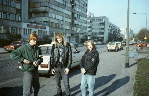 Photo of Holy Death, Polish heavy metal group in the 80s.