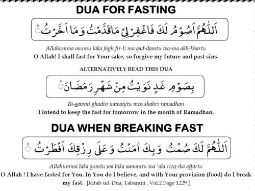 islamic-quotes:  Dua for fasting and breaking fast.