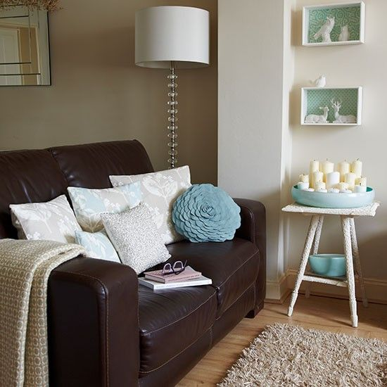 Duck Egg Blue Walls And Hard Floors In Living Rooms