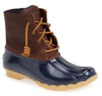 Women's Sperry Saltwater Duck Boot      Make waves with confidence in these weather resistant boots that stylishly protect you from the rain and slush. Micro-fleeced lining and a siped, lugged sole provide warmth and superior traction. Affiliate