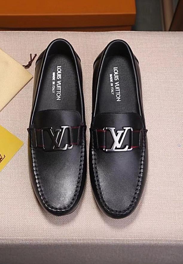 Leather Loafers Dress Shoes Men Louis Vuitton Men Shoes