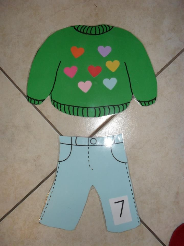 Winter clothes math game