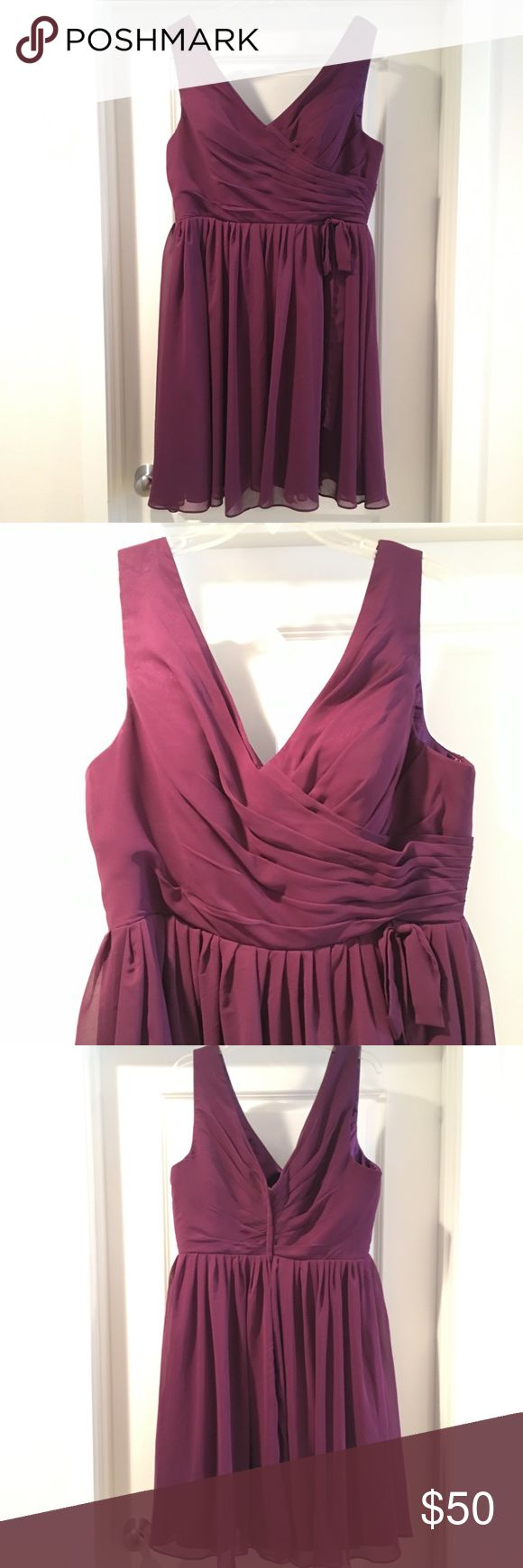 Purple Semi-Formal Dress Like New.  Perfect and affordable dress for special occasions such as prom.  Beautiful plum purple color.  Bust 44 x Waist 36 x Hips 47 Dresses Prom