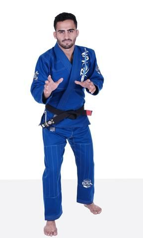 Samurai Archer Bjj Kimono in Blue by Ronin Brand.The Ronin Samurai Archer Gi jacket cloth is a 450 gsm weight jacket made of traditional pearl weave material. This is a ideal for competition and daily training. Lightweight