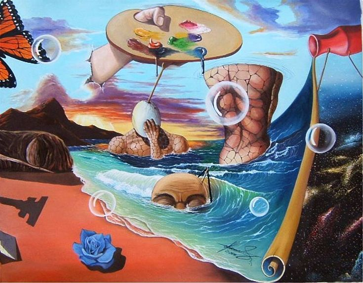 """""""The Game of Childhood"""" (3) - Oil on canvas.   #art #painter #painture #surrealism"""