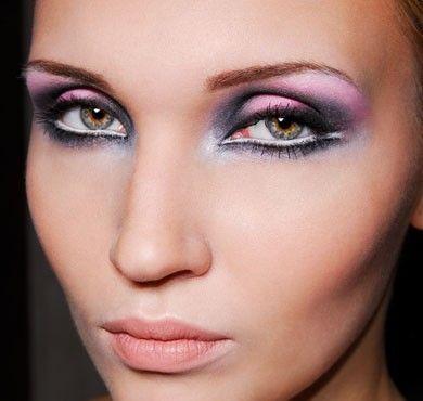 Trucco occhi viola azzurro